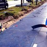 """Primera """"calle solar"""" que genera energía"""