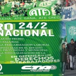 #24-F: Primer Paro Nacional contra Macri. Convocan las dos CTA y ATE. Jornada Nacional de Lucha y Protesta.