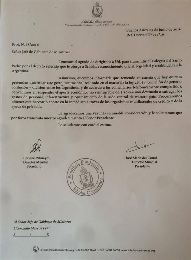 Francisco-rechaza-donacion-Macri
