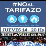 14J: Protestas contra el Tarifazo en todo el país. Puntos de reunión