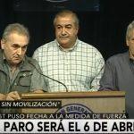 """Forzada por sus bases, la CGT convocó a un Paro General """"sin movilización"""""""