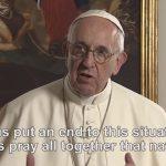 El Papa Francisco compartió un video con un fuerte mensaje contra el negocio de la guerra
