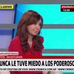"""Cristina con Chiche Gelblung: """"Esos que no se ven son los que tienen más poder. Nunca les tuve miedo"""""""