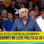 """(VIDEO) Moyano a Macri: """"Está hipotecando el país. Recuerde que toda victoria es relativa, toda derrota es transitoria"""""""