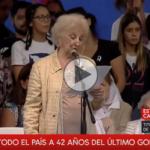 """(VIDEO) Estela de Carlotto: """"Ni un retroceso en las políticas de Memoria, Verdad y Justicia"""""""